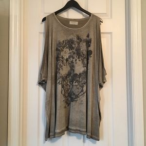 AllSaints X Willow Skull Floral Top